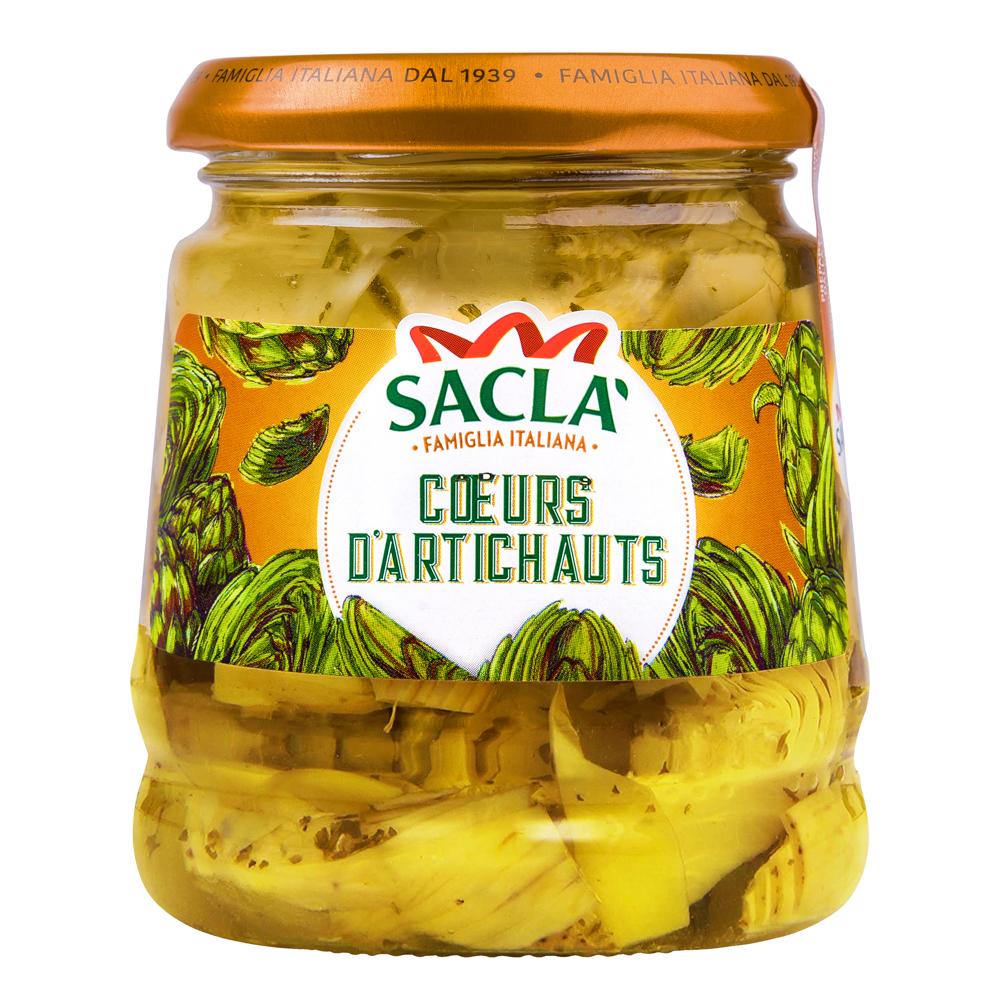 Packshot Sacla coeurs d'artichauts